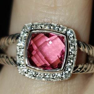 💖 David Yurman Petite Albion Ring Pink Tourmaline